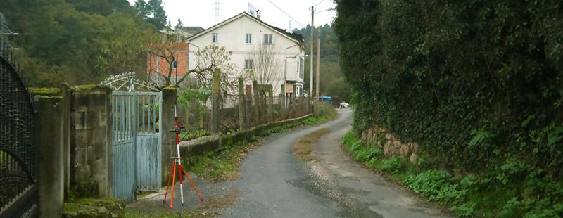 Levantamiento de camino con GPS en San Cibrao das Viñas (Ourense)